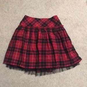 Red & Black Checkered Skirt